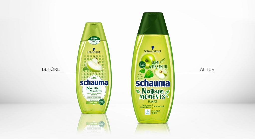 Schauma Nature Moments Green Apple after design relaunch