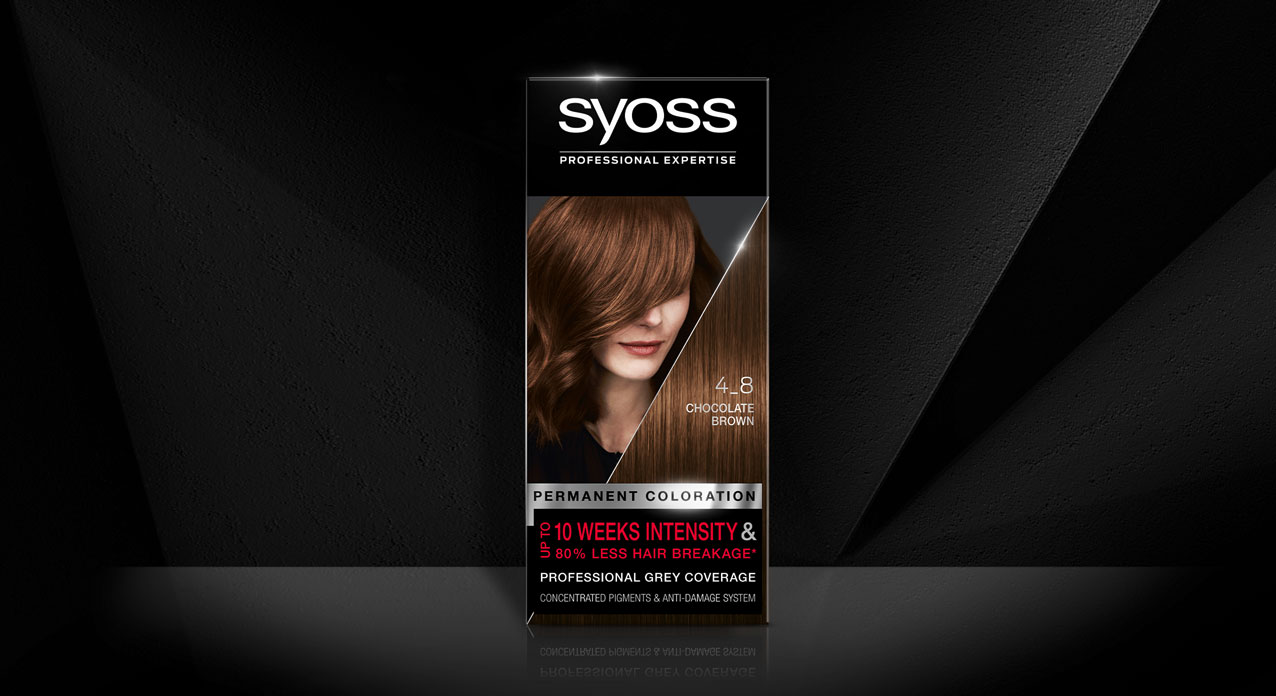 Syoss hair coloration packaging relaunch design 2020