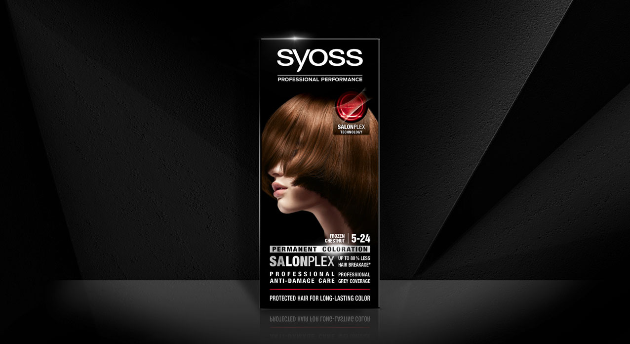 Syoss hair coloration packaging design before relaunch