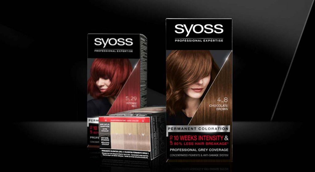 Mood set up with Syoss baseline coloration packagings