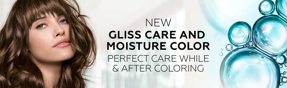 Amazon plus content mood with new model approach for Gliss Color by Schwarzkopf
