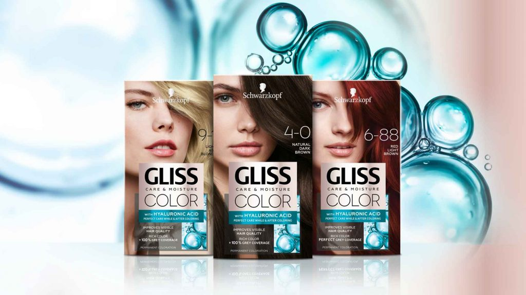 Schwarzkopf Gliss Color packaging design mood