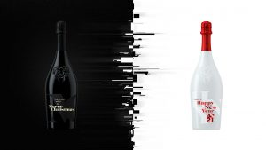 baries design champagne 3d rendering christmas and new year