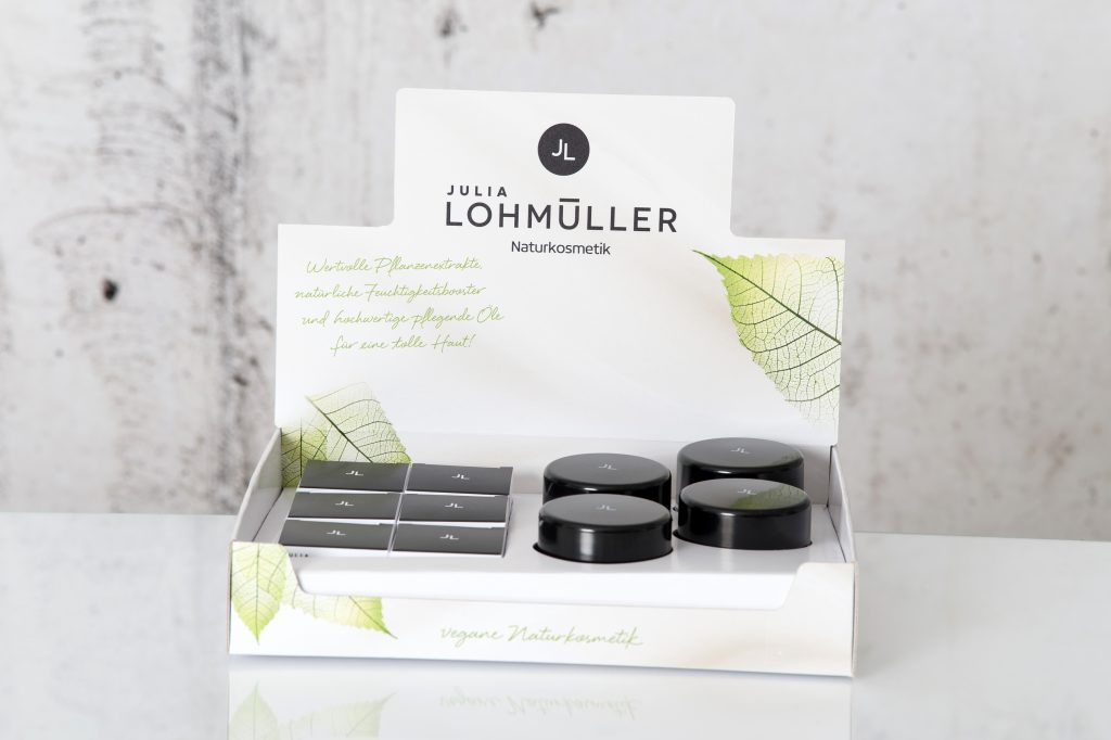 Julia Lohmüller Natural Skin Care Cream Display