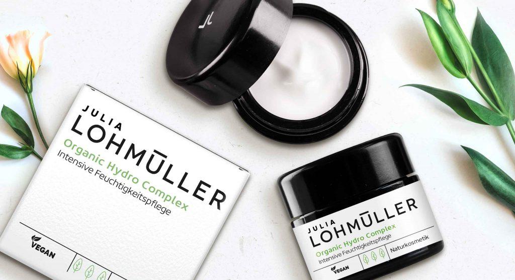 Julia Lohmüller natural skin care packaging design range