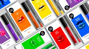 PRIDE LIPS kiss kits top view composition, designed by baries design
